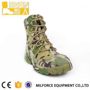 Camouflage Suede Cow Leather Military Desert Boots pictures & photos