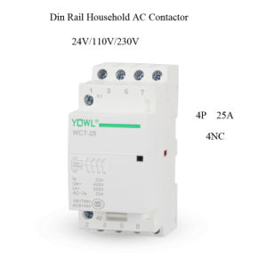 4p 25A Ict Household DIN Rail AC Contactor pictures & photos