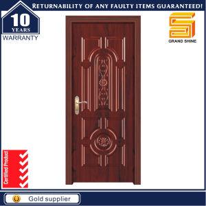 China Interior Solid Wooden Single Panel Teak Wood Main Door Design