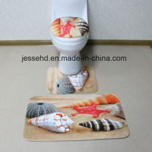 Anti-Slip and Washable New Design Custom Printed 3 Piece Bathroom Rug Set pictures & photos