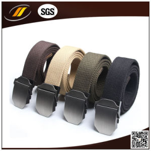 Adjustable Metal Slide Buckle Military Casual Canvas Belts