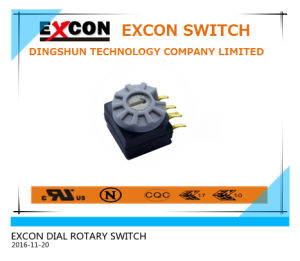 UL 94V0 Dia Rotary Switch with 8 Position