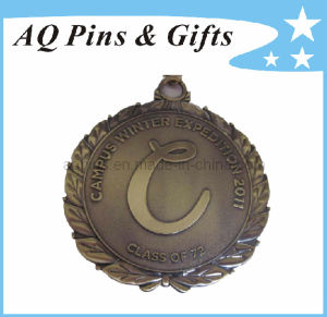 School 3D Trophy Medal in Antique Plating pictures & photos