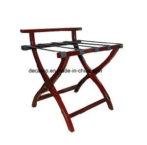 Folding Solid Wood Luggage Rack (DA20) pictures & photos