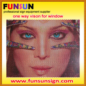 Windows Graphics /Perforated Vinyl /One Way Vision (Width: 0.98m/1.06m/1.27m/1.37m/1.52m) pictures & photos