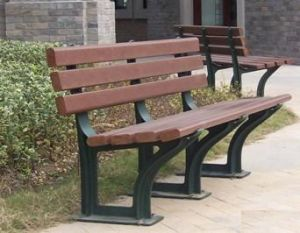Wood-Plastic Composite Outdoor Furniture-- Bench Antislip and Waterproof Wood Plastic Composite, Flame-Proof and Insect-Proof New Technology Similar to Natural