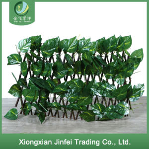 Decorative Indoor Artificial Fence Hedge Plastic Greenery Leaf Fence
