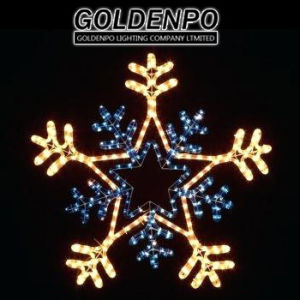 Goldenpo Led Rope Light Christmas Snowflake Motif With White Color