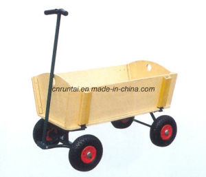 High Quality Garden Wooden Baby Tool Cart pictures & photos