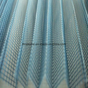 Mosquito Waterproof Plisse Insect Screen/Polyester Pleated Mesh/Retractable/Folding Net pictures & photos