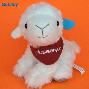 Lovely White Custom Plush Stuffed Lamb Soft Toy with Scarf