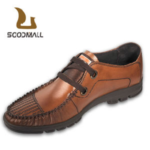 china soodmall top mens′ genuine top layer leather casual