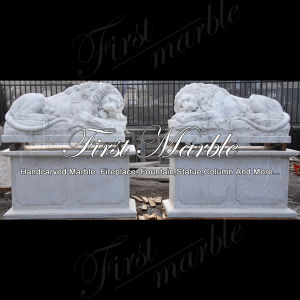 Metrix Carrara Marble Lion for Garden Decoration Ma-1000