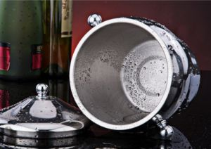 Stainless Steel Single Wall Ice Bucket with Lid (JX-041)
