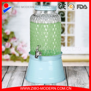 Wholesale 5.8L Customized Glass Juice Dispenser with Tap pictures & photos