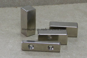 Powerful Neodymium Iron Boron Magnet Block with Countersunk pictures & photos
