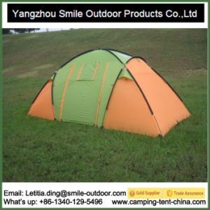 Outdoor Tourism Rain Protection Two-Room Family Camping Tent 6 Person pictures & photos
