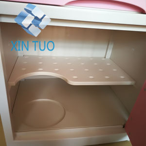 Factory Direct Price Economic Hospital Furniture 3 Drawers Metal Hospital Bedside Lockers pictures & photos