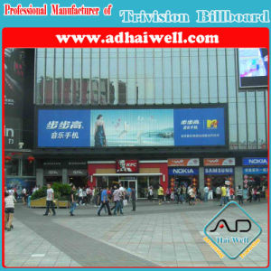 Outdoor Advertising Trivision with Vinyl Poster Display