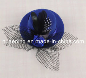 Pet Feather Black Mesh Hat