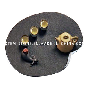 Chinese Design Modern Granite Stone Tea Tray Set for Sale