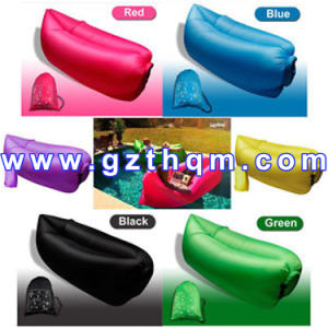Different Colors Splicing Inflatable Single Envelope Sleeping Bag pictures & photos