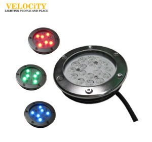 18PCS High Power IP68 Stainless Steel LED Underwater Pool Fountain Light Multi Color