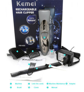 Electric Washable Hair Clipper Rechargeable Trimmer Shaver Razor Cordless Adjustable