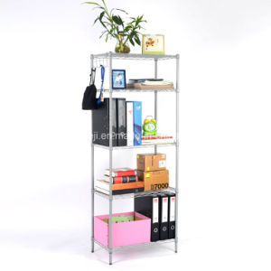 5 Tier Wire Storage Rack Organization Shelving Unit with Adjustable Leveling Feet, Silver Grey