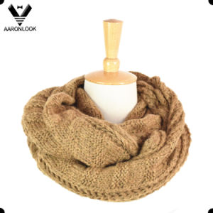 Fashion Knitted Pattern Acrylic Mohair Circle Neck Warmer