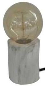 Metal Base with Marble Effect Table Lamp