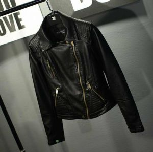 Women′s Leather, PU Leather Short Jacket, Fashion Clothing pictures & photos