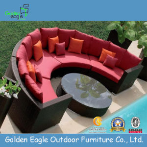 Semi-Circle Outdoor PE Rattan Wicker Combination Sofa