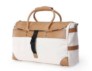 Fashion Hot Sale Women Canvas Travel Weekend Tote Bag (H500)