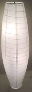 Paper Oval Floor Lamp with Two Lamp Holders