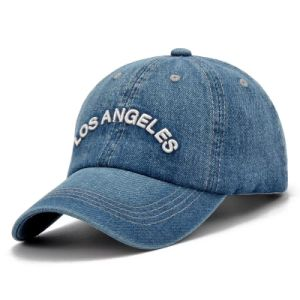 Custom Embroidery Cap Burshed Cotton Promotional Sports Embroidery Jeans Baseball Cap pictures & photos