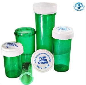 Medical Weed Pill Rx Prescription Pharmacy Vials with Reversible Cap Container pictures & photos