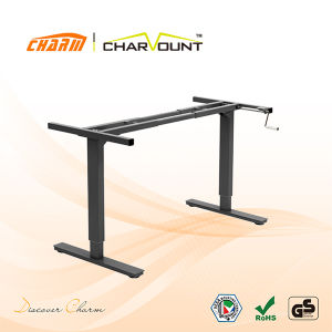 Height Adjustable Standing Desk Hand Cranked Control (CT-MLD-1N) pictures & photos