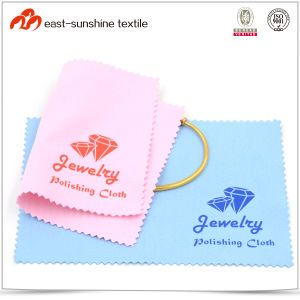 China New Design Logo Printed Microfiber Jewelry/Gold