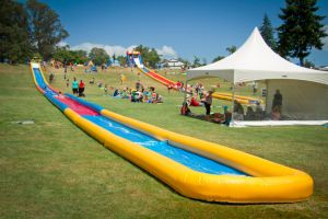 Commercial Inflatable Pop up Water Slip Slide Single Lane Park pictures & photos