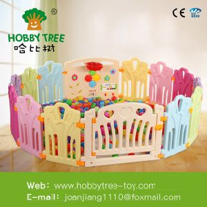 China Colorful Pvc Material Kids Plastic Fence Large Playpen For