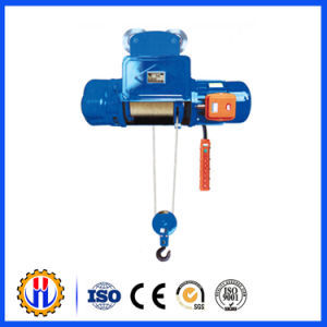 High Quality Wire Rope Electric Hoist with Monoral Tral Hoist Trolley