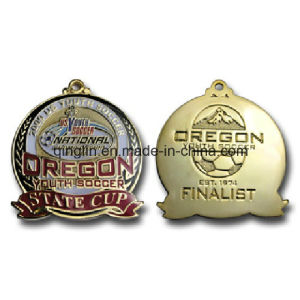 Custom Youth Socccer Metal Medals with Banner (QL-JP-0005)