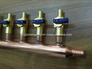 China Pex Copper Pipe Manifold With Ball Valve China Copper
