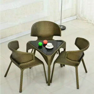 PE Rattan Table and Chair Set Dining Set