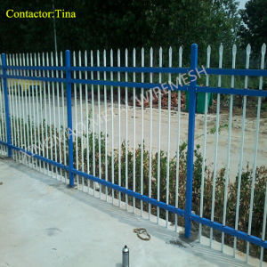Ornamental Iron Fencing/Double Rail Fence (XM3-21) pictures & photos