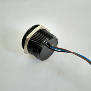 25mm IP68 Waterproof Black Aluminum Anodized Piezo Switch pictures & photos