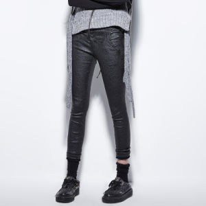 Pk-071 New Arrivals Unique Design Bark Pattern Straps Tight Pants with Pockets