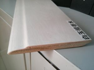 Ck Multi-Layer Solid Wood Skirting for Laminated Flooring pictures & photos