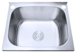 Cpc Stainless Steel Sanitary Laundry Wash Basin With Splash